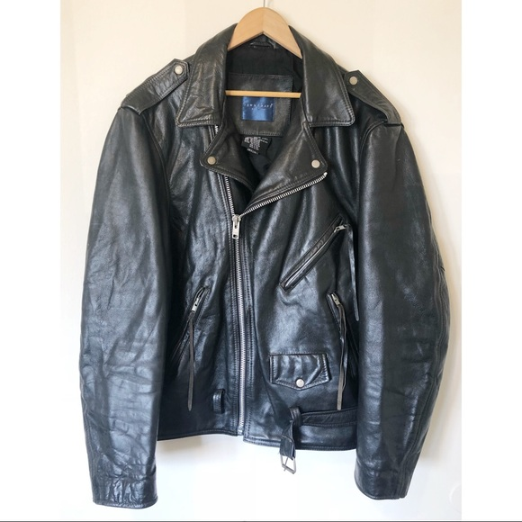 Vintage Other - VTG TOWNCRAFT leather motorcycle jacket